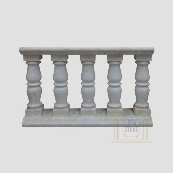 Matt White LimeStone Balustrade Pillars