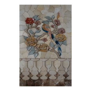 Bird Sitting On A Tree Marble Stone Mosaic Art