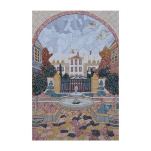 Classical Courtyard Fountain Marble Stone Mosaic Art