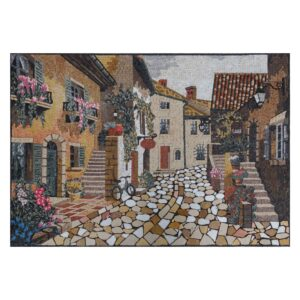 Classical Nighborhood Street Marble Stone Mosaic Art