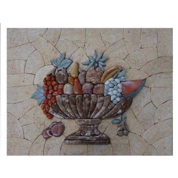 Delicious Fruit Marbe Stone Mosaic Art
