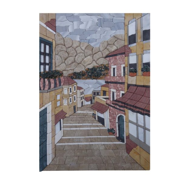 Down The Steps Marble Stone Mosaic Art
