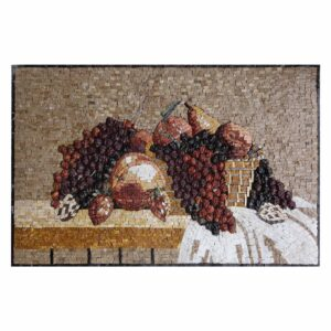 Basket of Grapes Marble Stone Mosaic Art