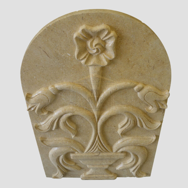 Master hand-engraved limestone wall panel