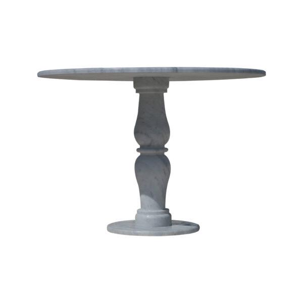 Spicate flourished glazed polished marble mosaic circular table