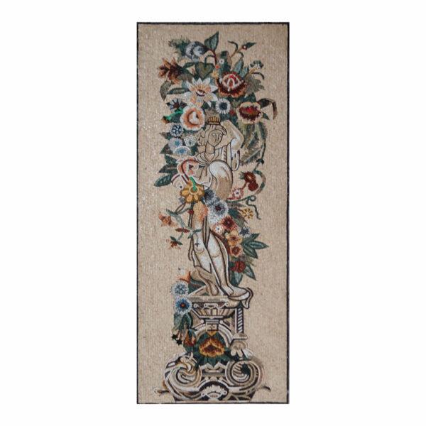 Flower Woman Marble Stone Mosaic Art
