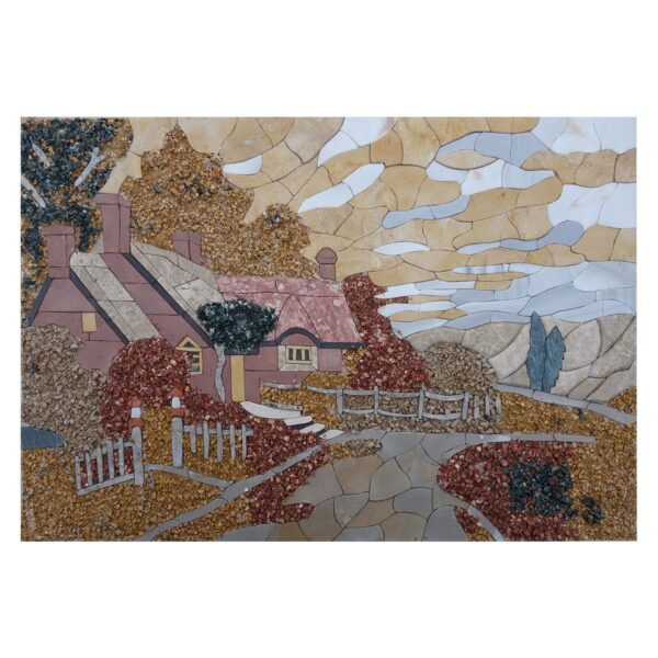 Follow The Path Marble Stone Mosaic Art
