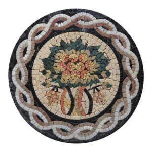 Circular Tree Of Life (White) Marble Stone Mosaic Art