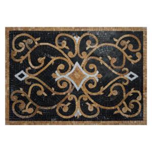 Glazed Polished Square Damsk Marble Stone Mosaic Art