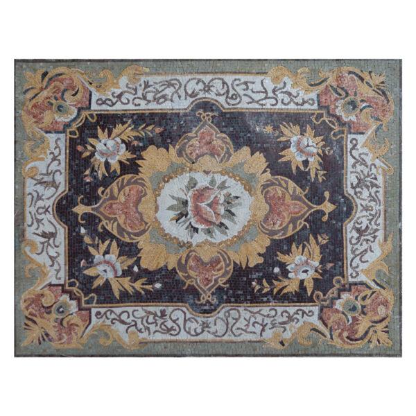 Glazed Polished Square Floral Marble Stone Mosaic Art