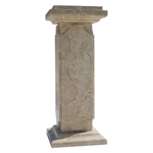 Beige Stone Balustrade Post. Glazed polished Crema Marfil LimeStone Balustrade Pillars