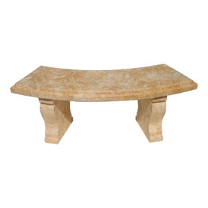 Glazed polished Dark Yellow Limestone Bench