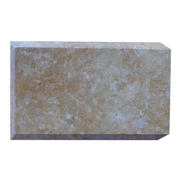 Glazed polished Dark Yellow Limestone Quoins