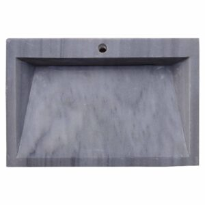 Glazed polished Grey Marble Wash Basin