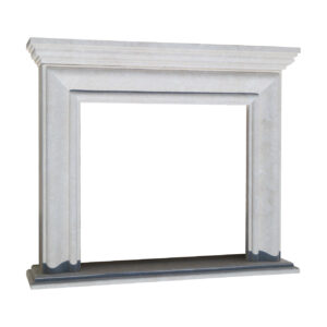 Glazed polished White Fireplace