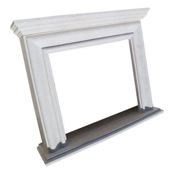 Glazed polished White Fireplace