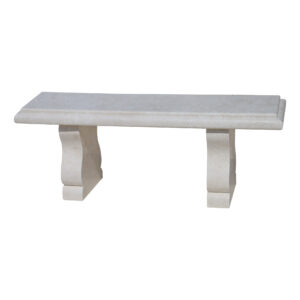 Natural Stone Bench | Glazed polished White Limestone Bench