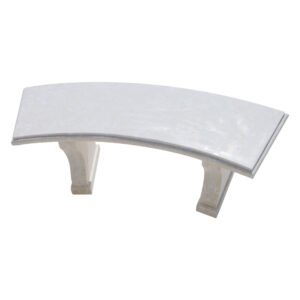 Glazed polished White Limestone Curved Bench