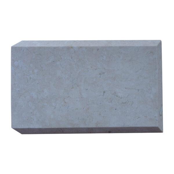 Glazed polished White Limestone Quoins