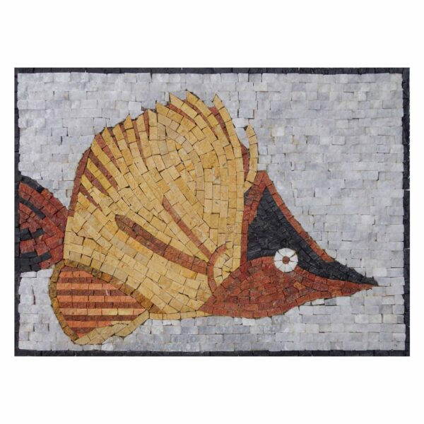 Golden Fish Marble Stone Mosaic Art