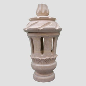 Matt Light Yellow Limestone lantern