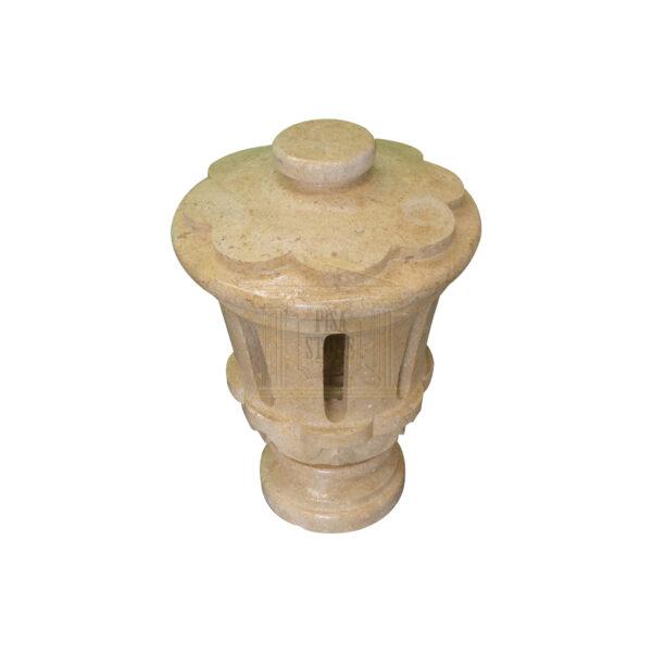 Matt Light Yellow Limestone Small Lantern