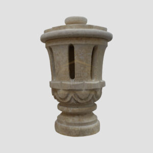 Matt Light Yellow Limestone Small Lantern