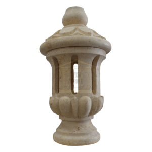 Matt Light Yellow Limestone Medium blind lantern