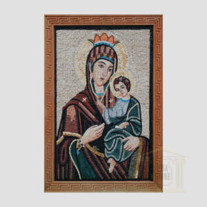 Jesus on Mary's lap Marble Stone Mosaic Art