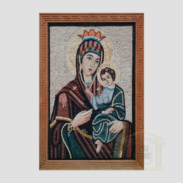 Jesus on Mary's lap Marble Stone Mosaic Art