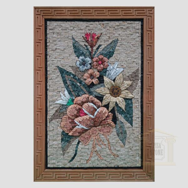 Flower bouquet Marble Stone Mosaic Art