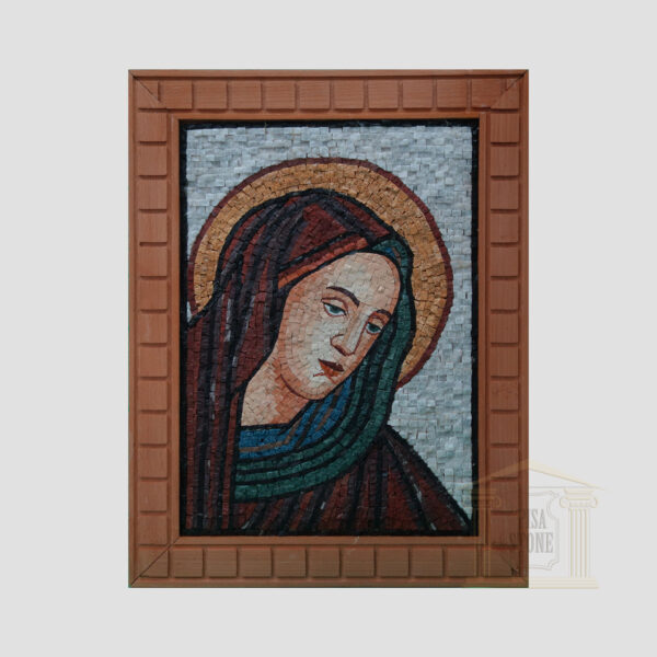 Virgin Mary Marble Stone Mosaic Art