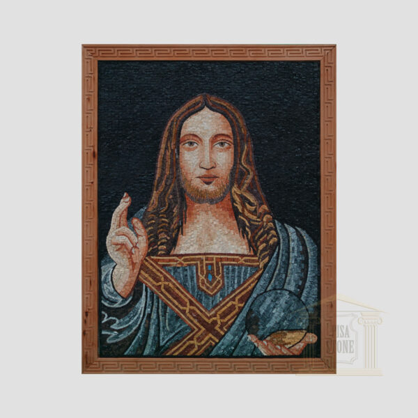 Jesus Christ And The Light Of The World Marble Stone Mosaic Art