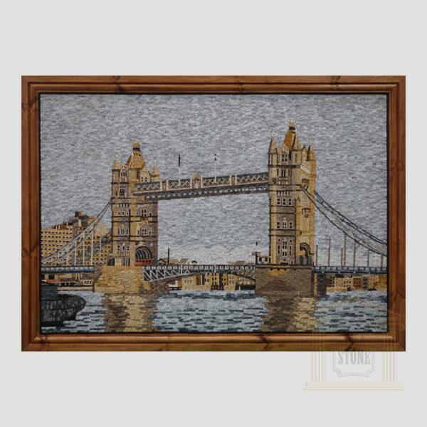 Tower Bridge of London Marble Stone Mosaic Art