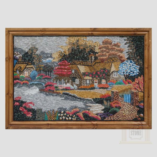 Colourful Dream House Marble Stone Mosaic Art
