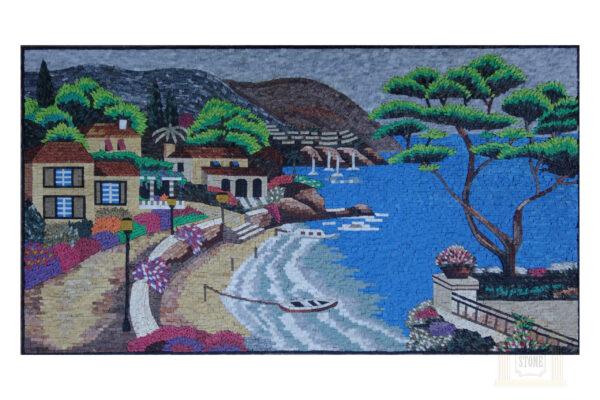 The Beach Marble Stone Mosaic Art
