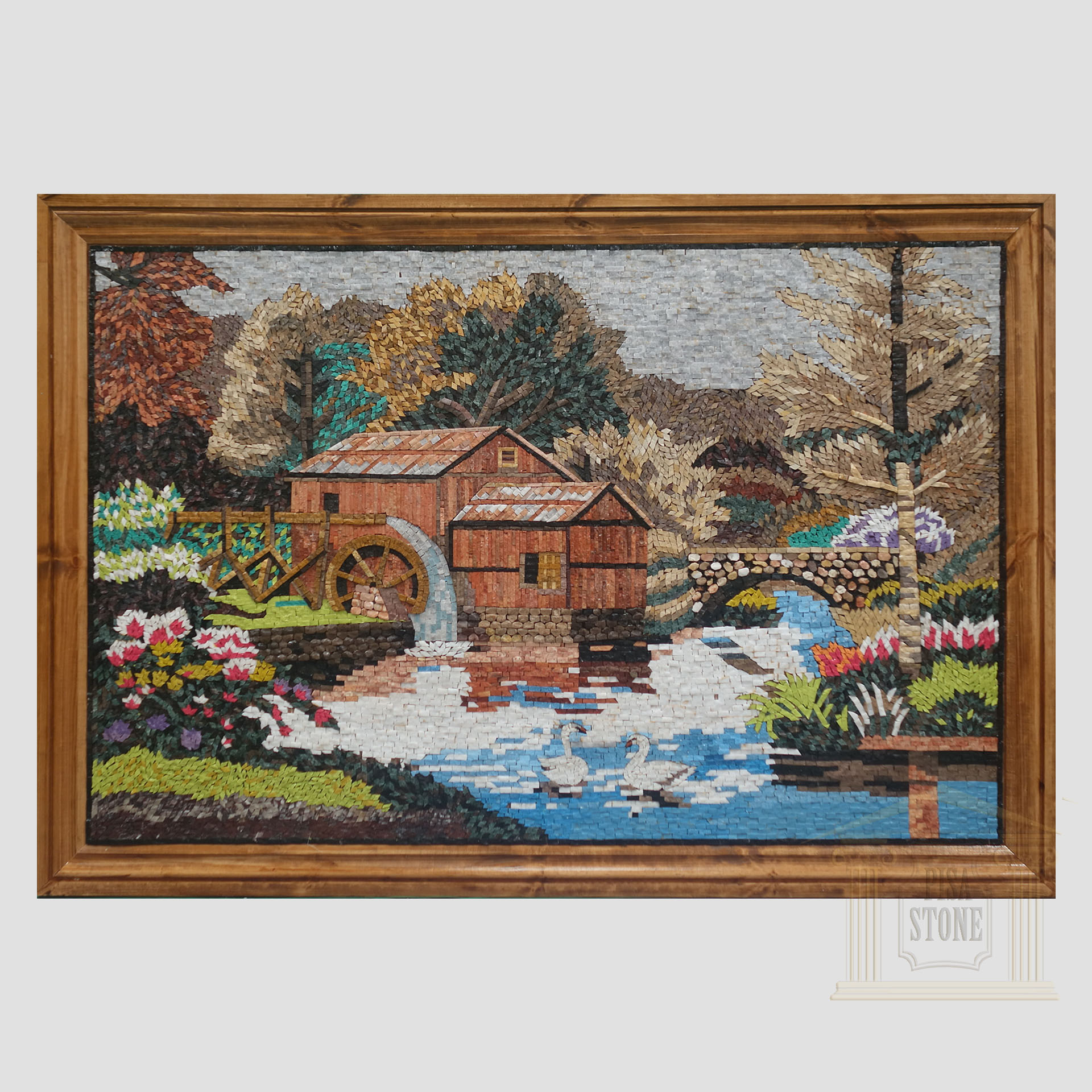 The River Marble Stone Mosaic Art