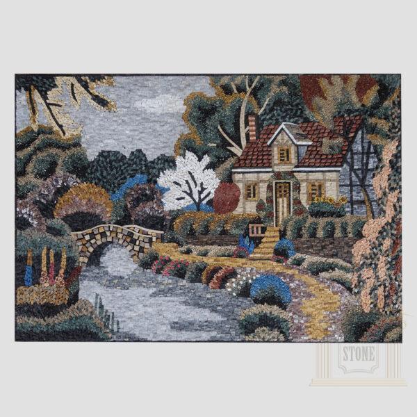 Granddad House Marble Stone Mosaic Art