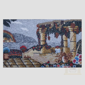 Greece Marble Stone Mosaic Art