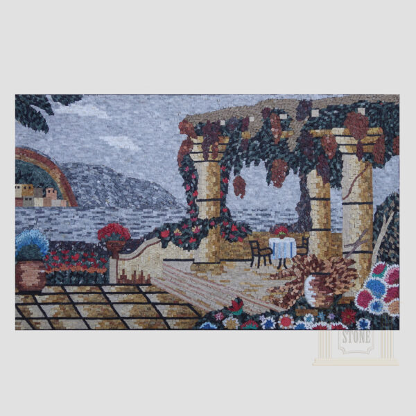 Greece Marble Stone Mosaic Art