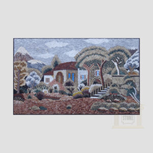 Villa In The Mountains Marble Stone Mosaic Art