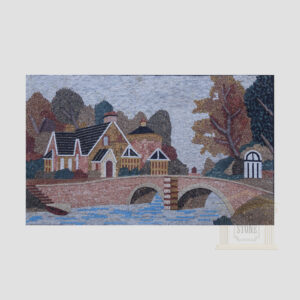 Over The River House Marble Stone Mosaic Art