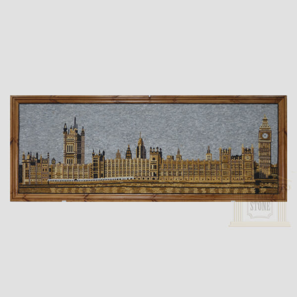 Houses of Parliament Marble Stone Mosaic Art