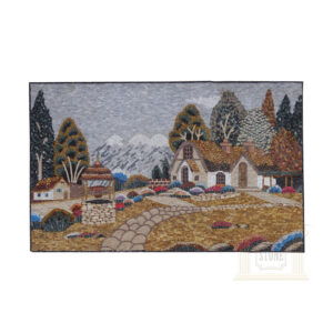 Countryside House Marble Stone Mosaic Art