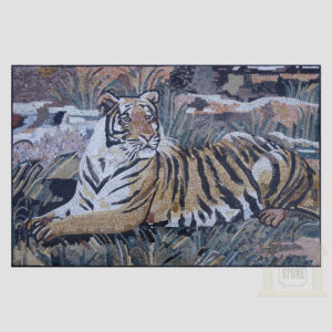 The Tiger Marble Stone Mosaic Art