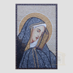 The Blessed Virgin Mary Marble Stone Mosaic Art
