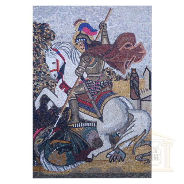 The holy knight Marble Stone Mosaic Art