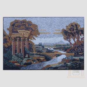Bridge Over the River Marble Stone Mosaic Art