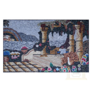 Beyond The Sea Cafe Marble Stone Mosaic Art