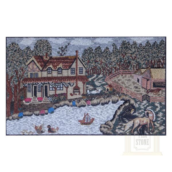 Granddad farm Marble Stone Mosaic Art